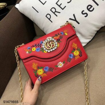 Túi Xách Gucci Embroidered small shoulder bag
