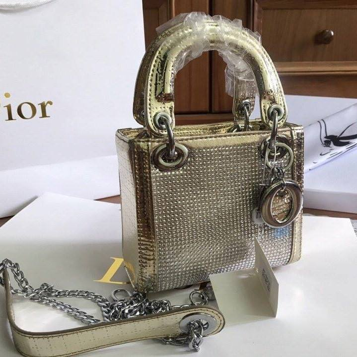Túi Xách Dior Lady size 20 ánh vàng (1)