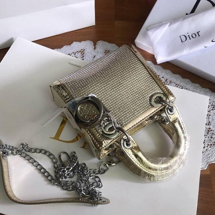 Túi Xách Dior Lady size 20 ánh vàng (3)