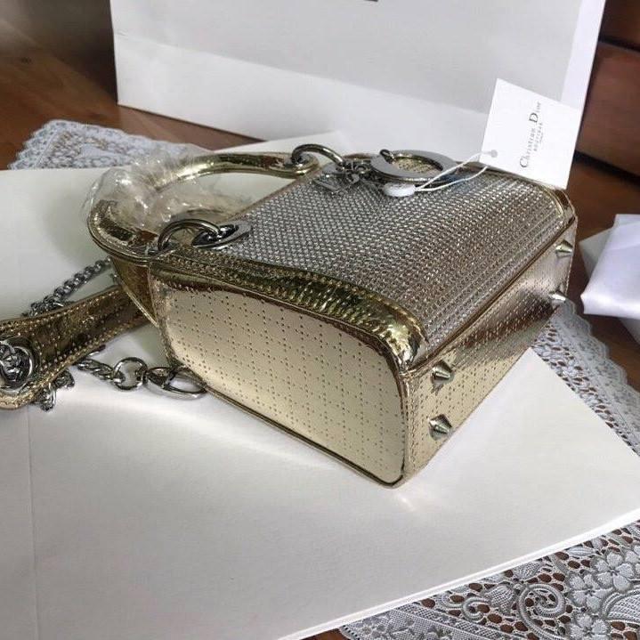 Túi Xách Dior Lady size 20 ánh vàng (5)