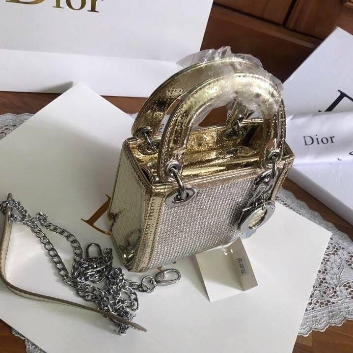 Túi Xách Dior Lady size 20 ánh vàng (6)