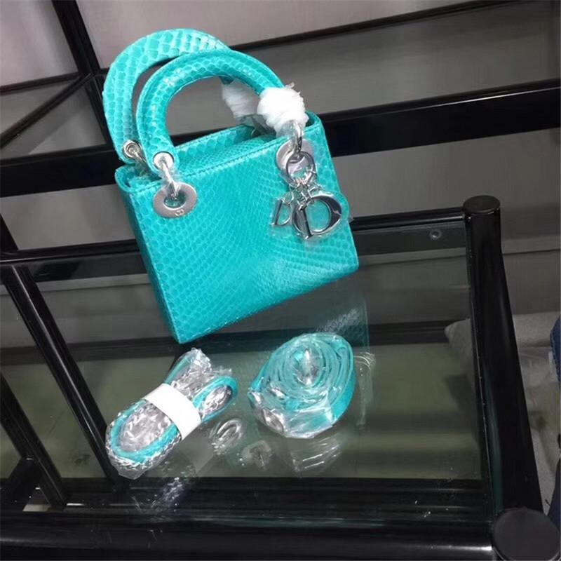 Túi Xách Dior Lady Mini Python Siêu Cấp