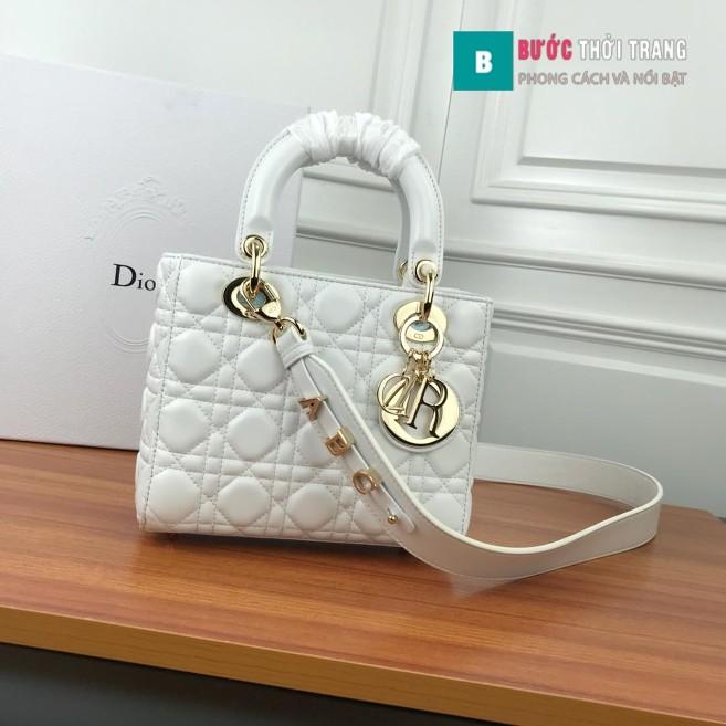 Túi Xách Dior Lady siêu cấp 20cm trắng
