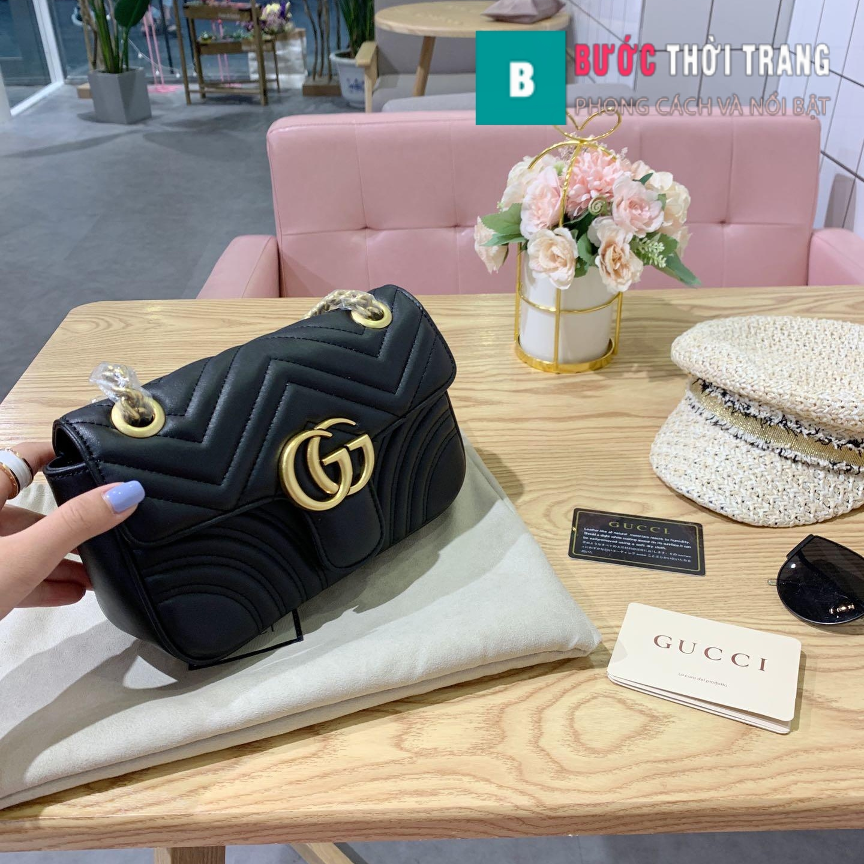 Túi Xách Gucci Marmont Supersale size 22cm – 446744 (1)