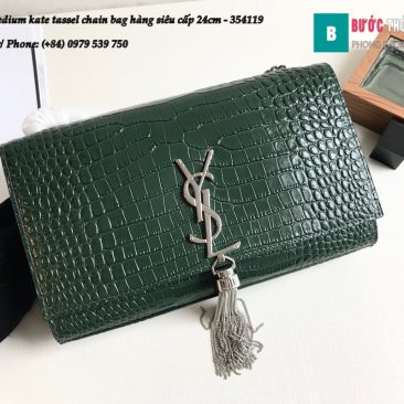Túi YSL Medium kate tassel chain bag in fog leather hàng siêu cấp 24cm - 354119 (53)