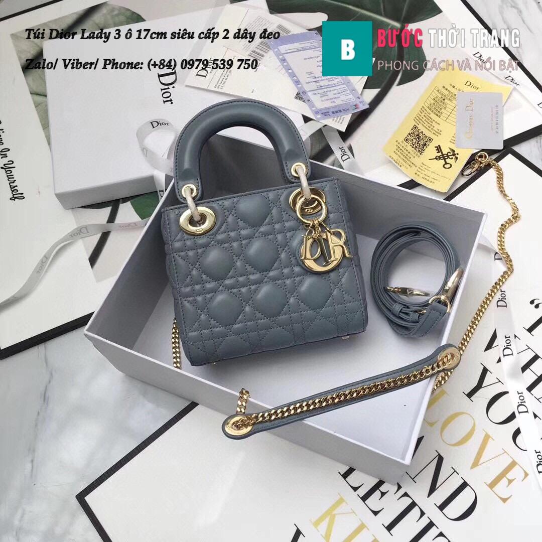 Túi Dior Lady 3 ô 17cm siêu cấp (1)