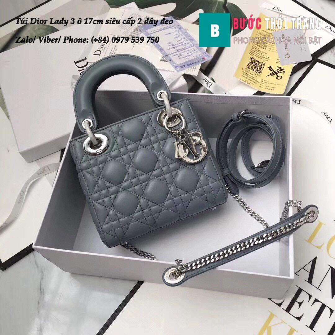 Túi Dior Lady 3 ô 17cm siêu cấp (10)
