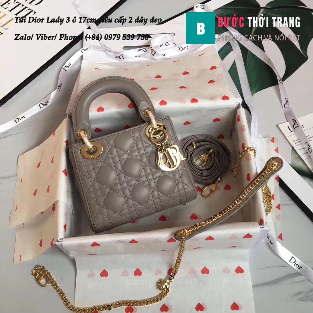 Túi Dior Lady 3 ô 17cm siêu cấp (109)
