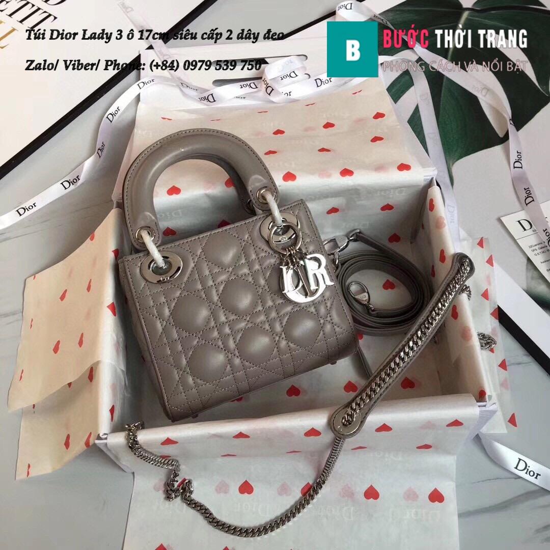 Túi Dior Lady 3 ô 17cm siêu cấp (119)