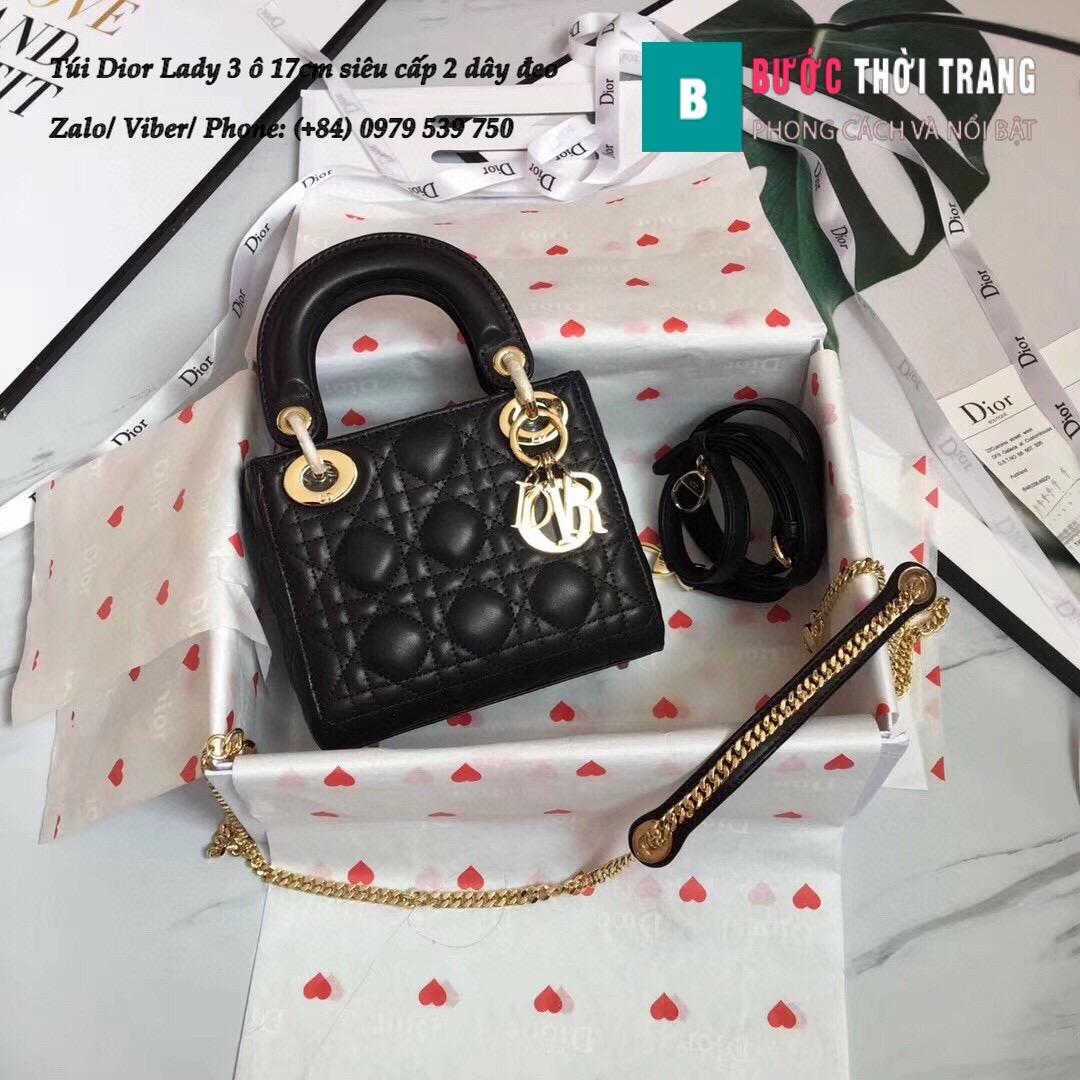 Túi Dior Lady 3 ô 17cm siêu cấp (19)