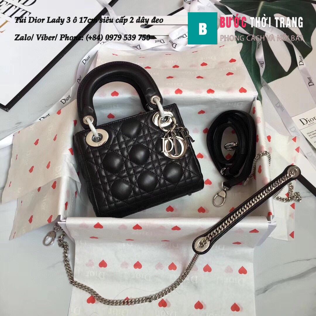 Túi Dior Lady 3 ô 17cm siêu cấp (28)