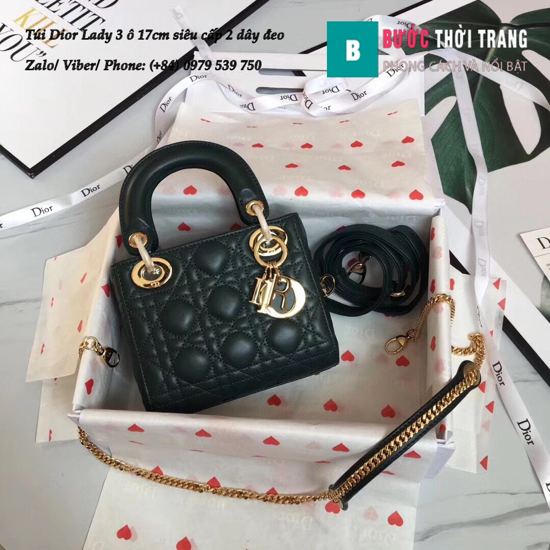 Túi Dior Lady 3 ô 17cm siêu cấp (55)