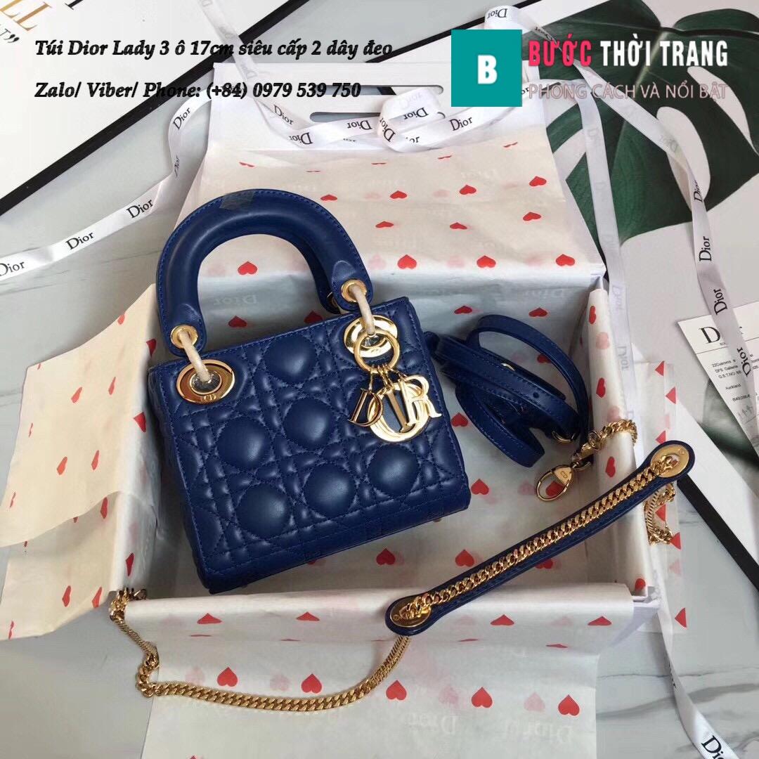 Túi Dior Lady 3 ô 17cm siêu cấp (73)