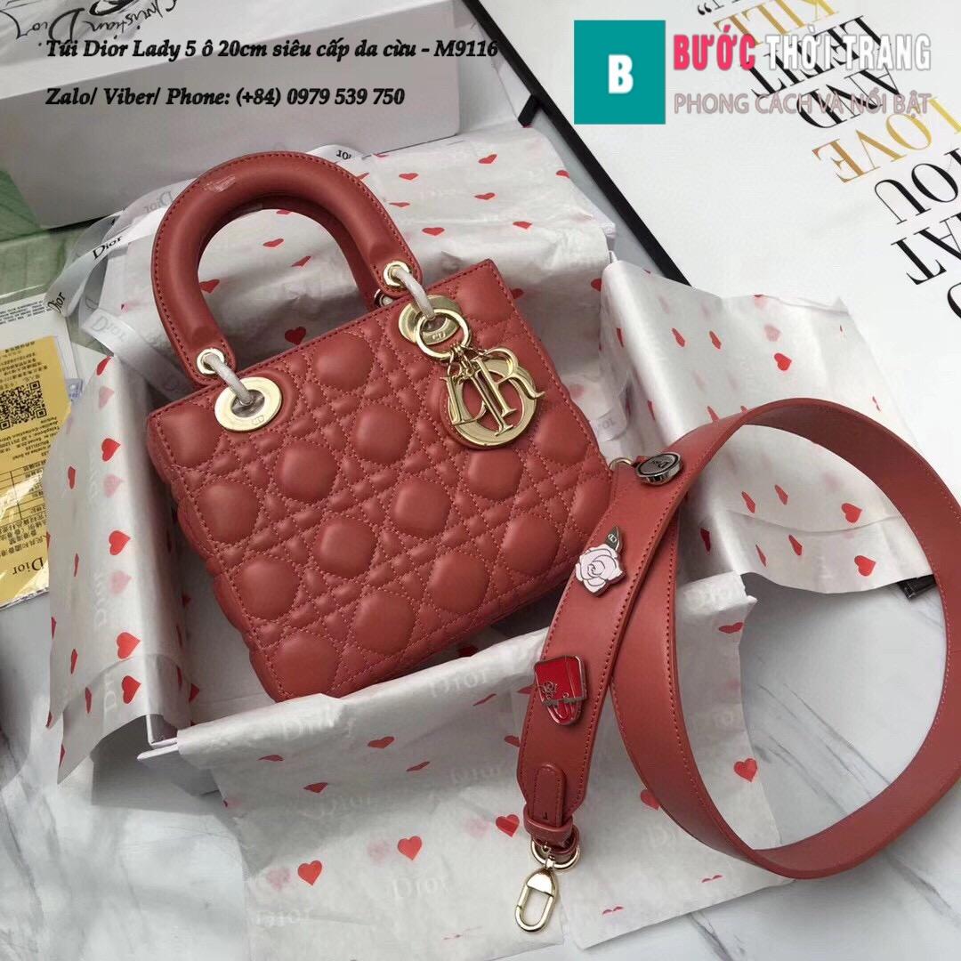 Túi Dior Lady 5 ô siêu cấp size 20cm (1)