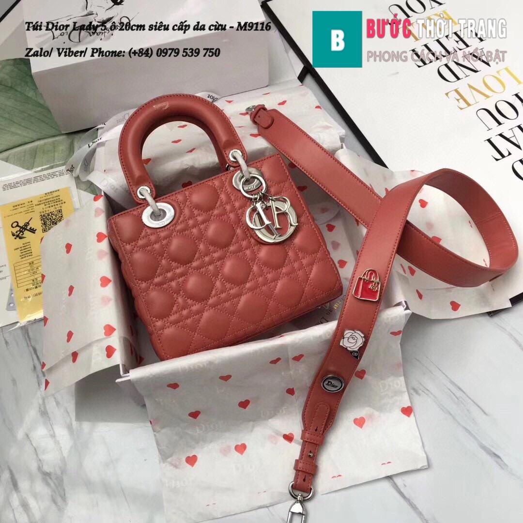 Túi Dior Lady 5 ô siêu cấp size 20cm (10)