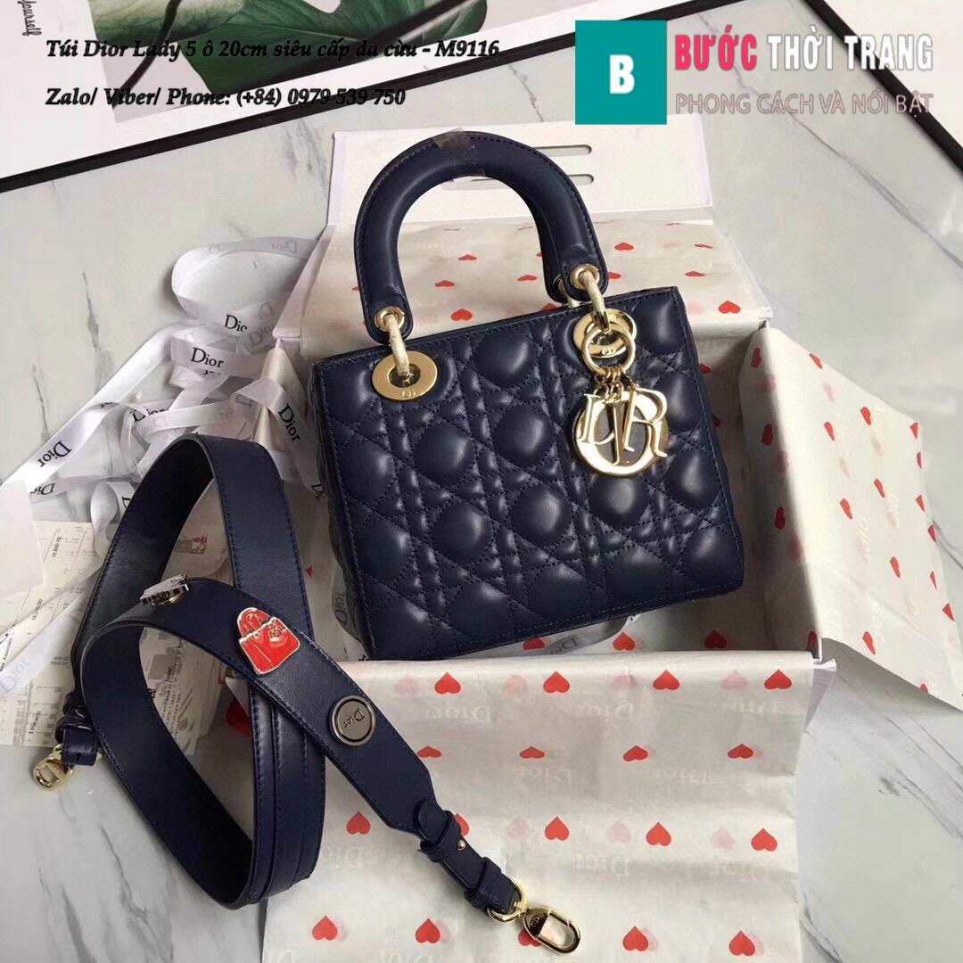 Túi Dior Lady 5 ô siêu cấp size 20cm (19)