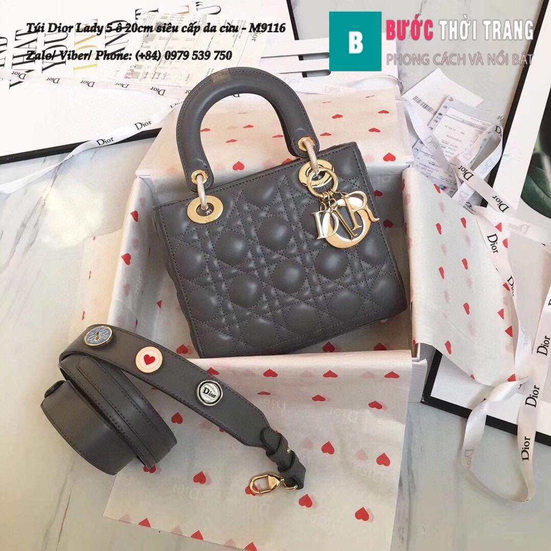 Túi Dior Lady 5 ô siêu cấp size 20cm (28)