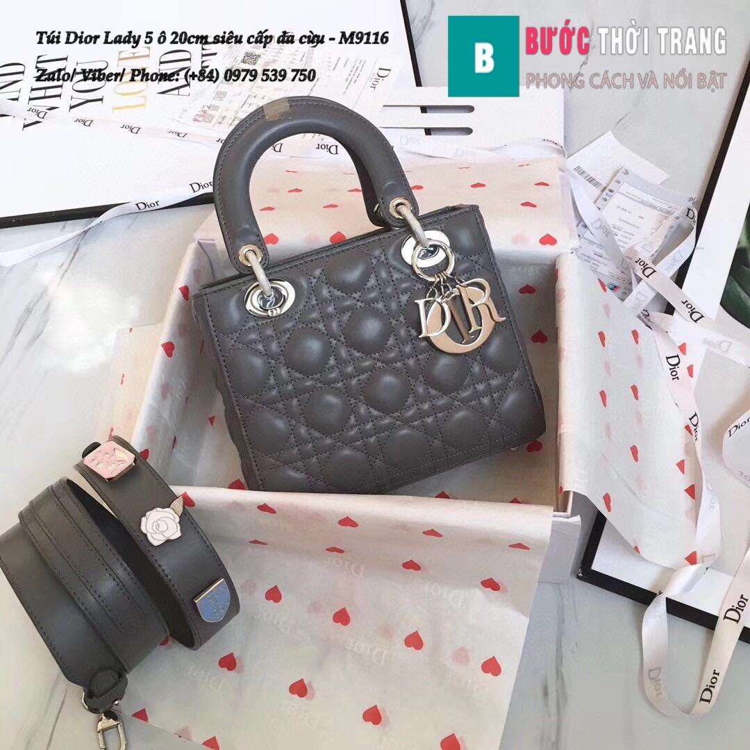 Túi Dior Lady 5 ô siêu cấp size 20cm (37)