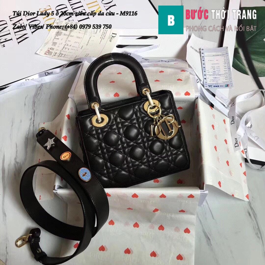 Túi Dior Lady 5 ô siêu cấp size 20cm (46)