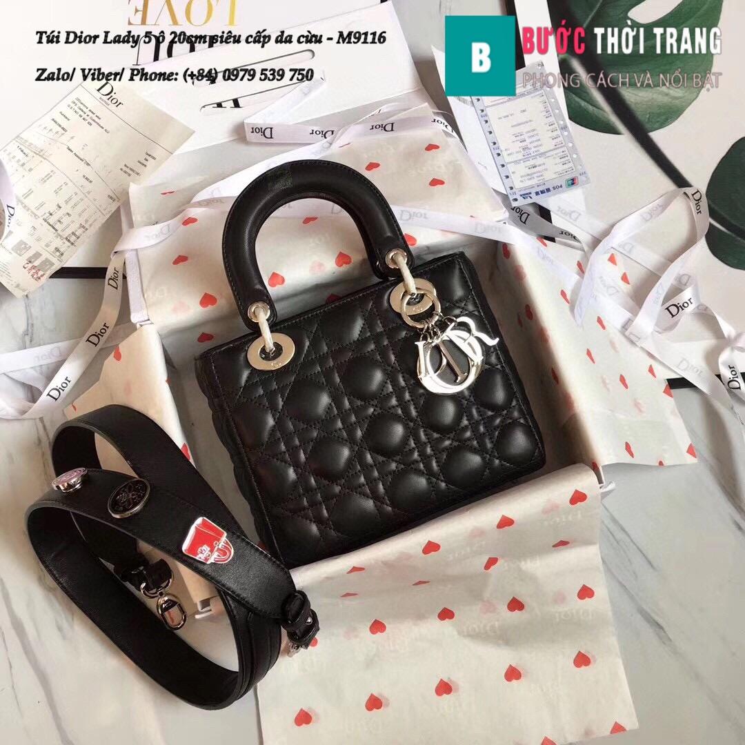Túi Dior Lady 5 ô siêu cấp size 20cm (54)