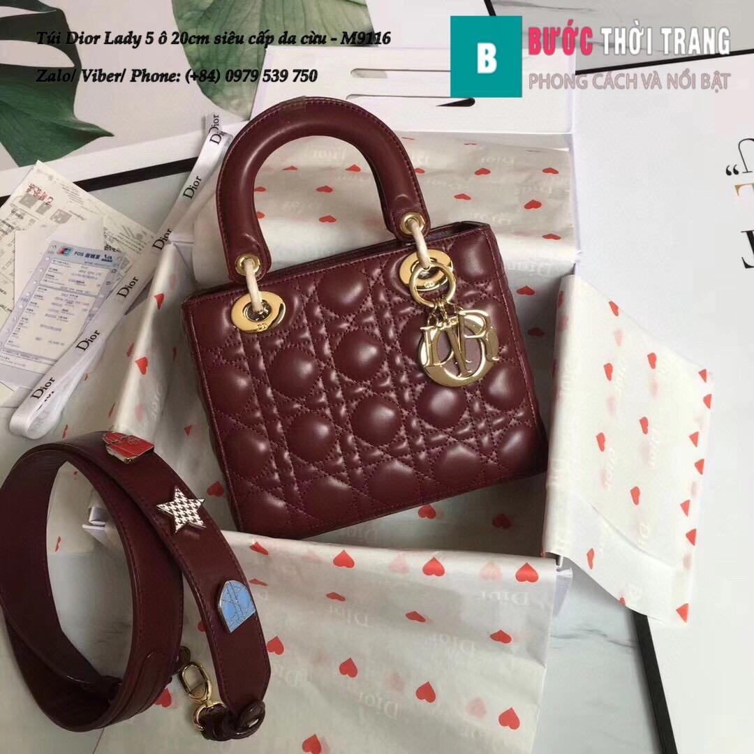 Túi Dior Lady 5 ô siêu cấp size 20cm (63)