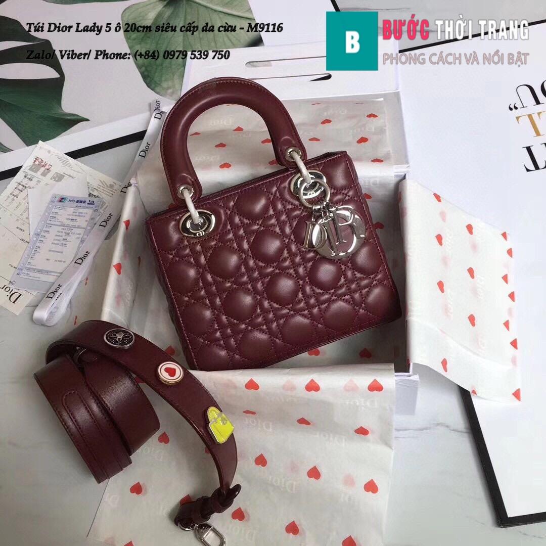 Túi Dior Lady 5 ô siêu cấp size 20cm (72)
