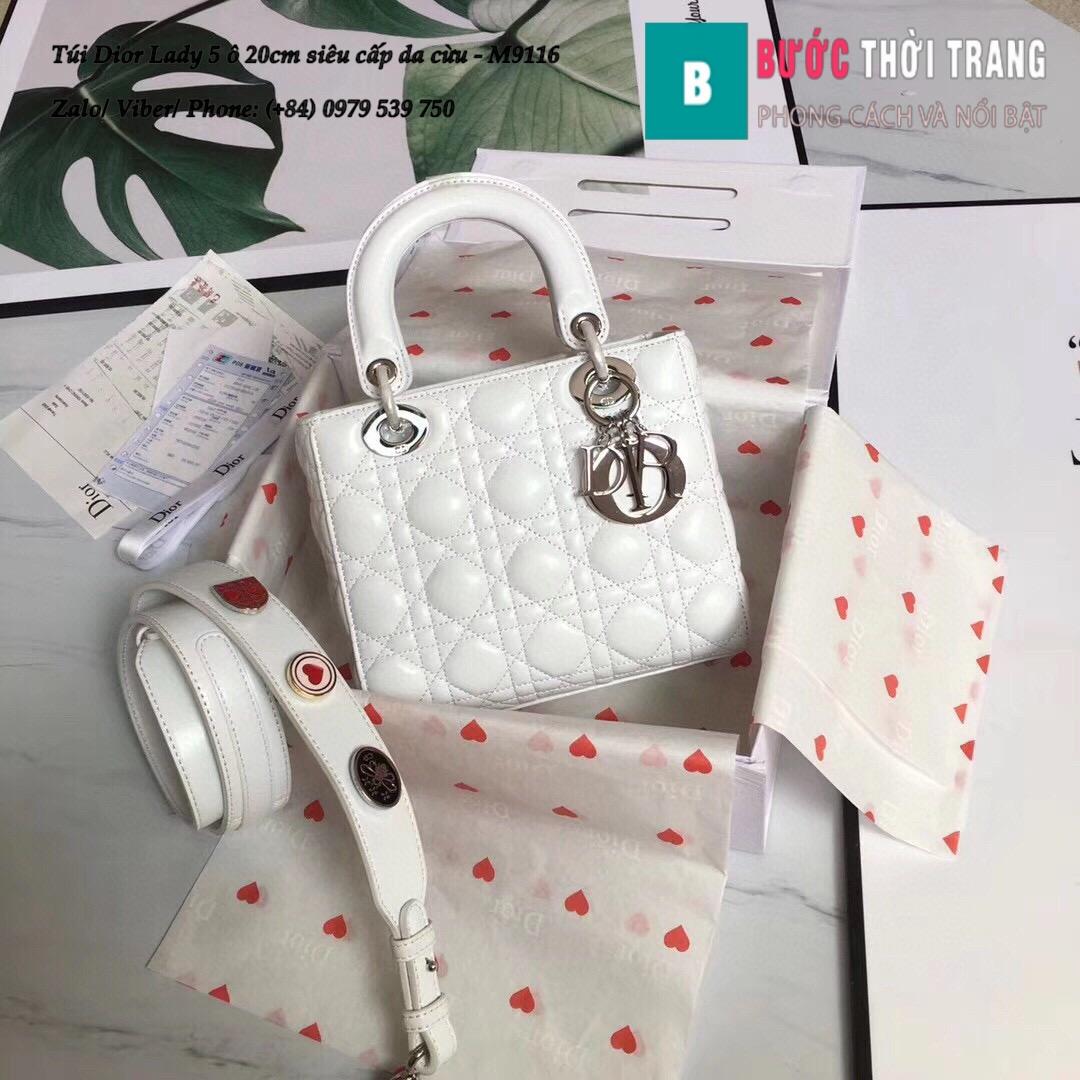 Túi Dior Lady 5 ô siêu cấp size 20cm da lambskin (10)