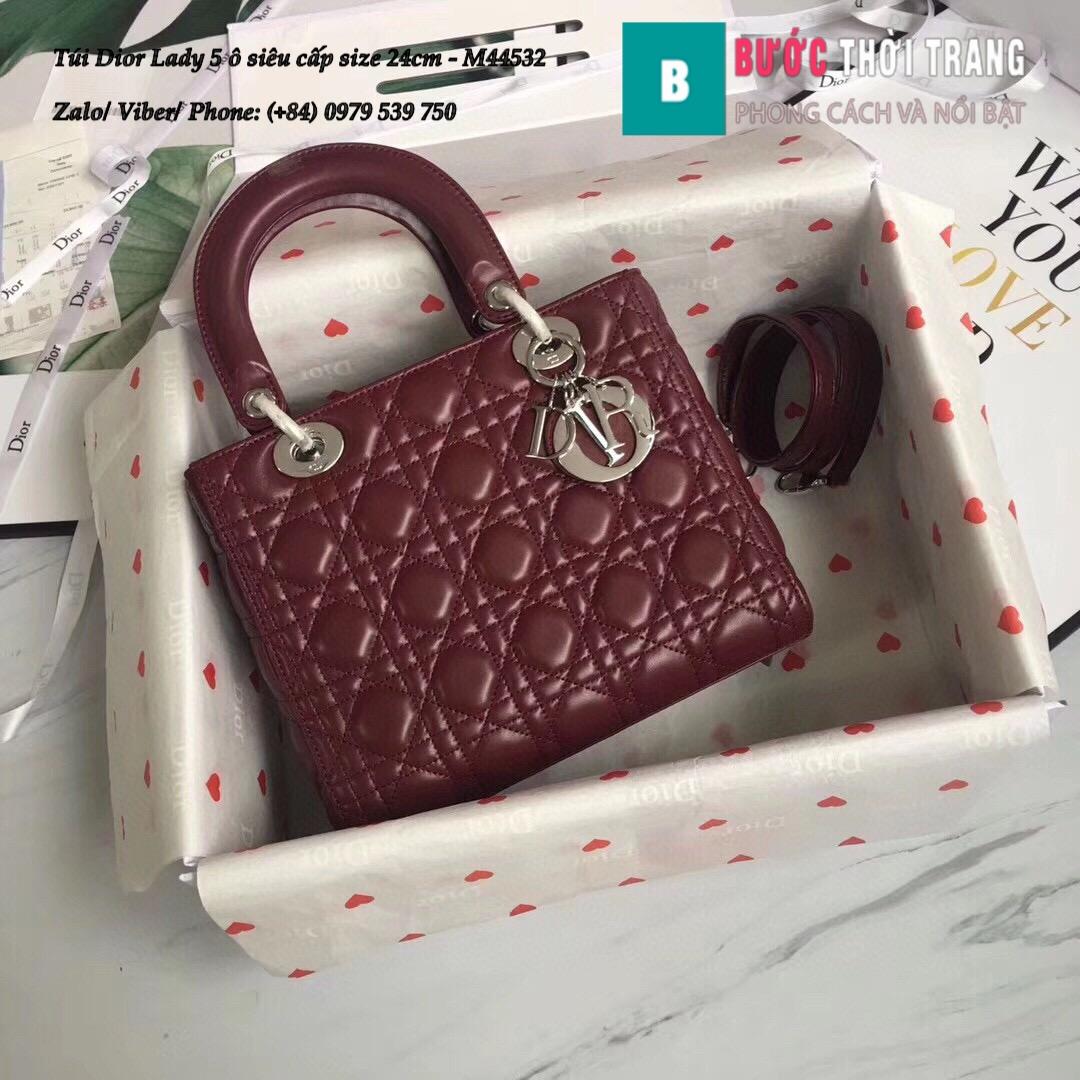 Túi Dior Lady 5 ô siêu cấp size 24cm – M44532 (10)