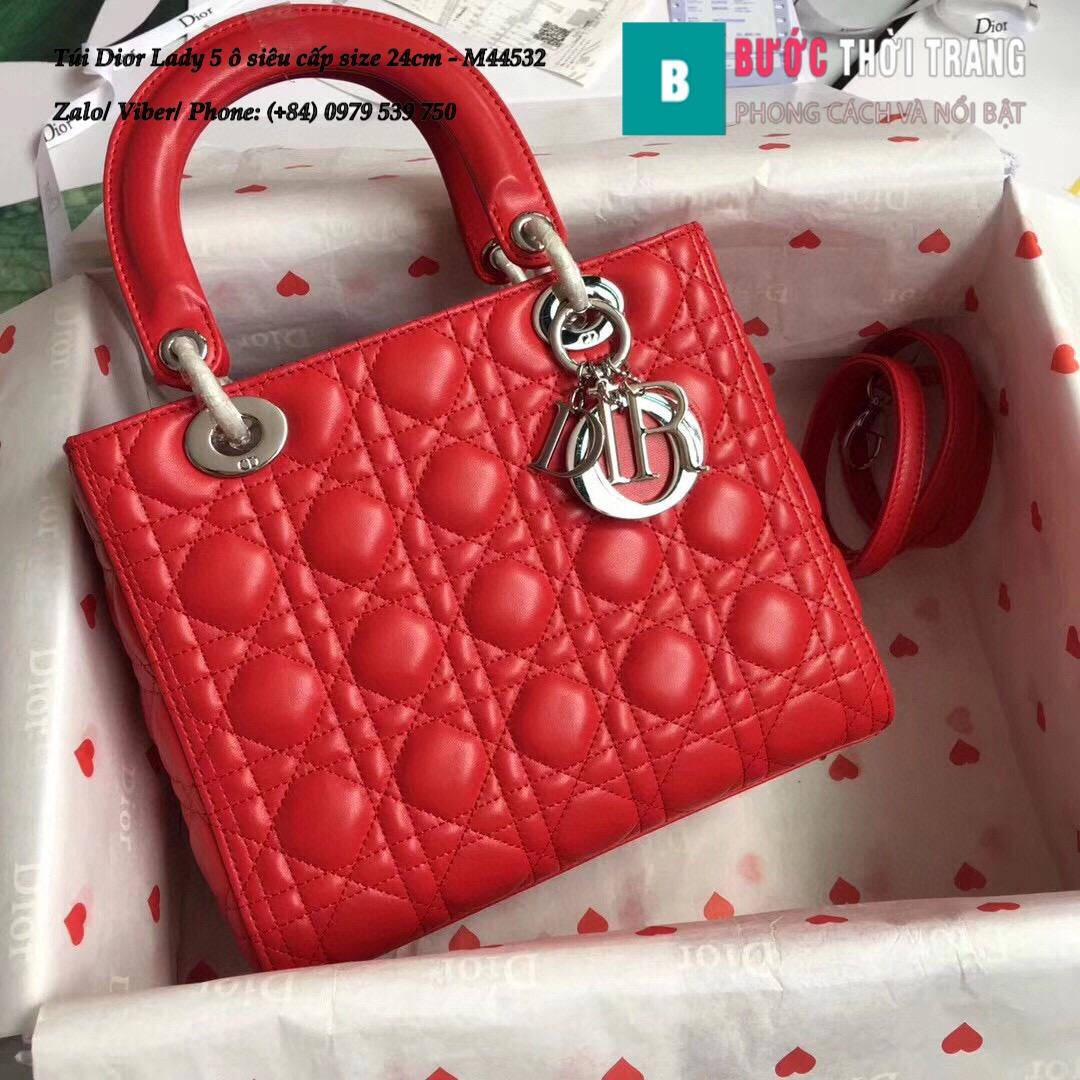 Túi Dior Lady 5 ô siêu cấp size 24cm – M44532 (118)