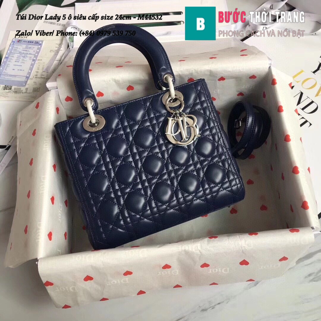 Túi Dior Lady 5 ô siêu cấp size 24cm – M44532 (144)