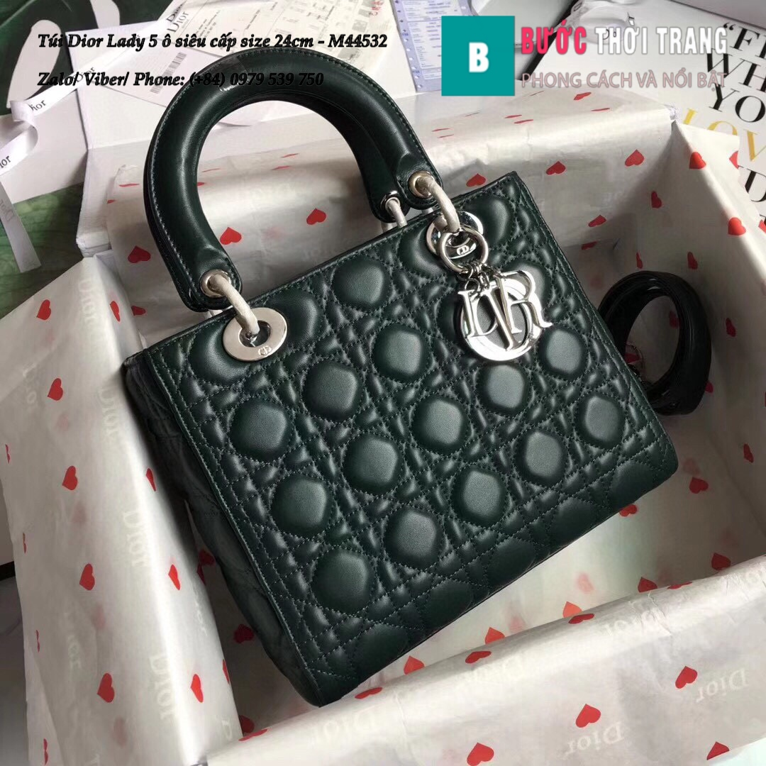 Túi Dior Lady 5 ô siêu cấp size 24cm – M44532 (154)