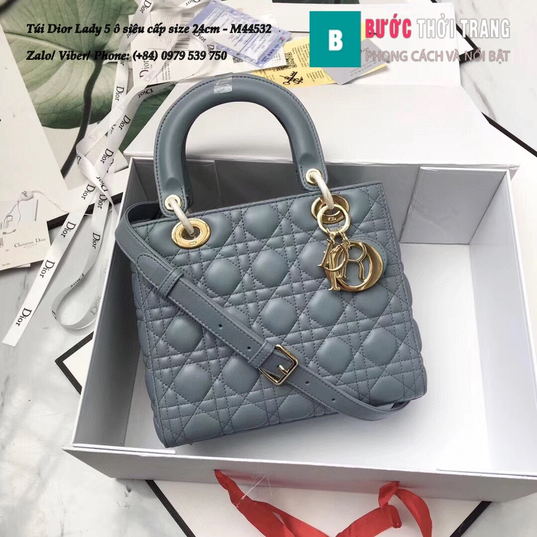 Túi Dior Lady 5 ô siêu cấp size 24cm – M44532 (19)