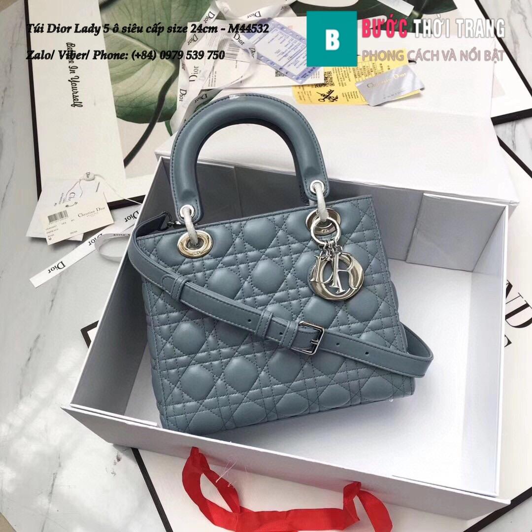 Túi Dior Lady 5 ô siêu cấp size 24cm – M44532 (28)