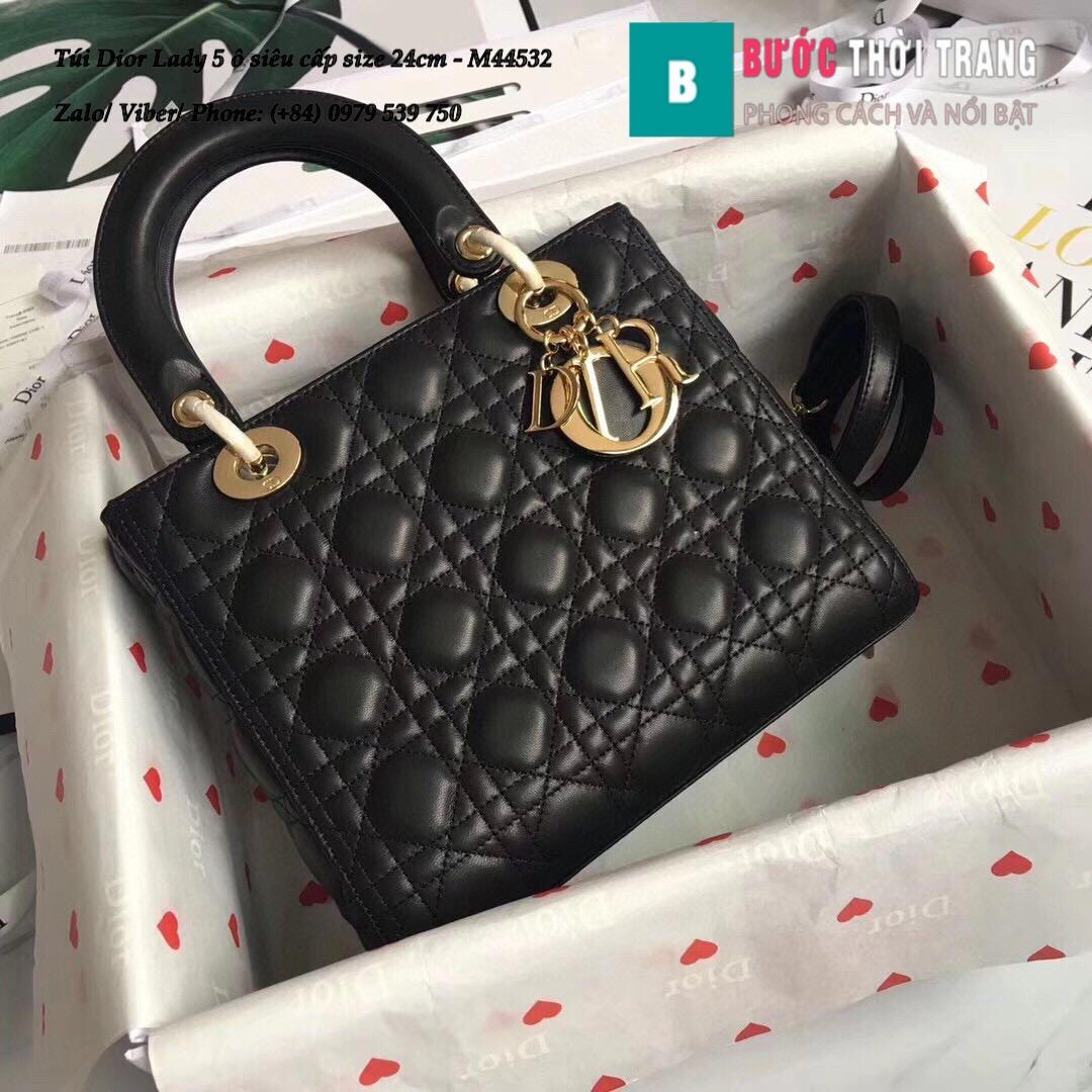 Túi Dior Lady 5 ô siêu cấp size 24cm – M44532 (38)