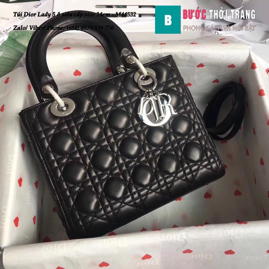 Túi Dior Lady 5 ô siêu cấp size 24cm – M44532 (47)