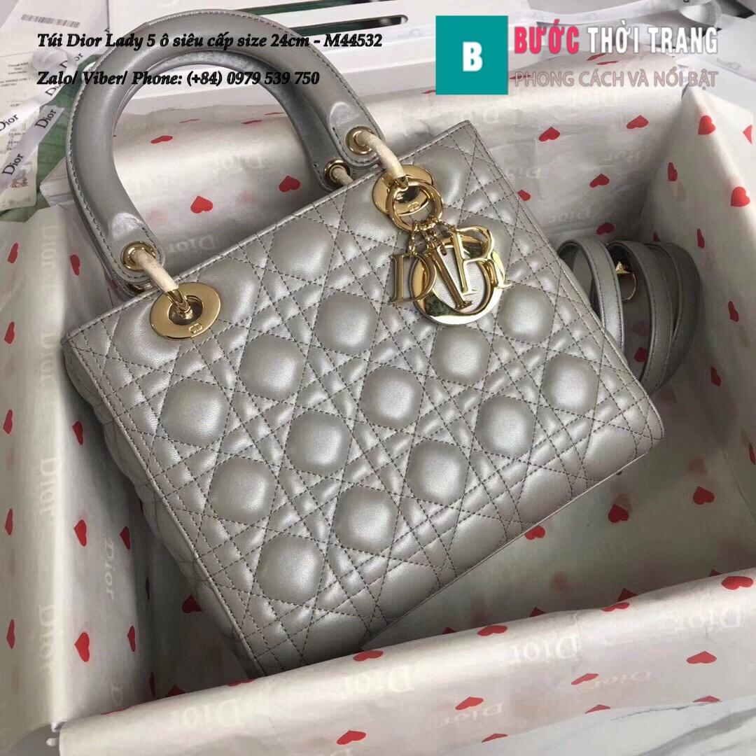 Túi Dior Lady 5 ô siêu cấp size 24cm – M44532 (56)