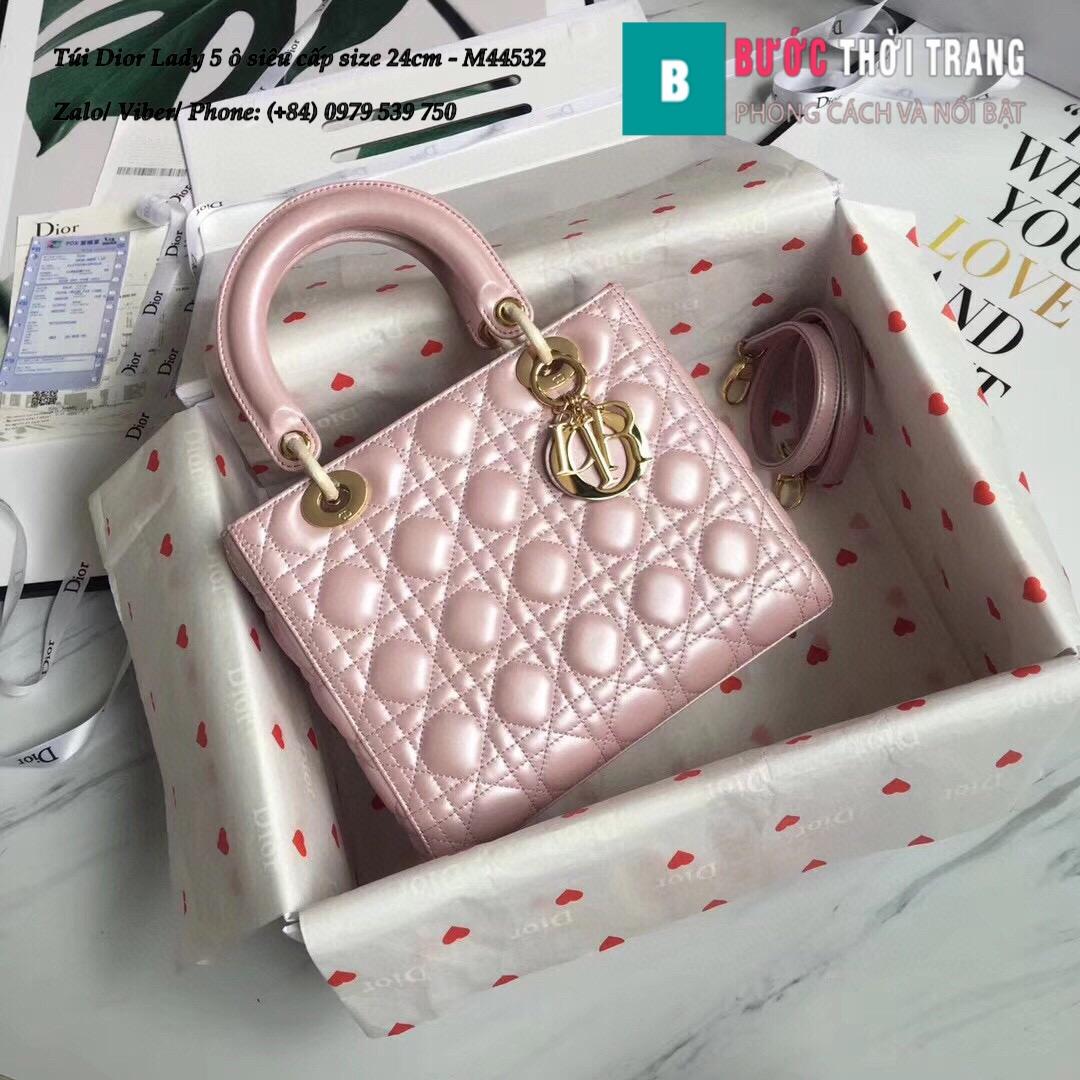 Túi Dior Lady 5 ô siêu cấp size 24cm – M44532 (73)