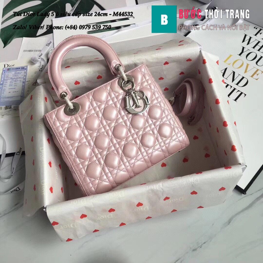 Túi Dior Lady 5 ô siêu cấp size 24cm – M44532 (82)