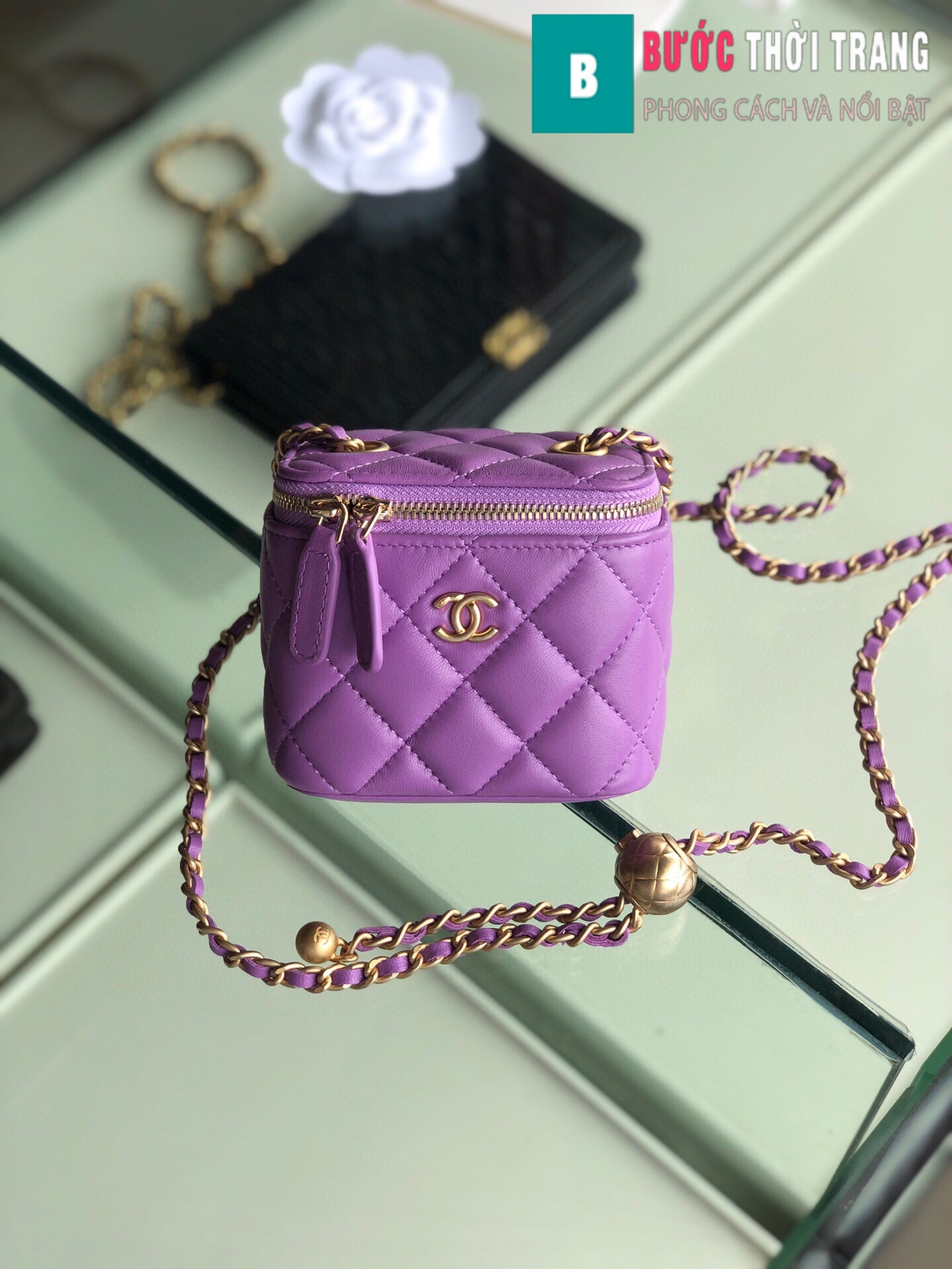 Túi xách Chanel Small vanity bag with strap (10)