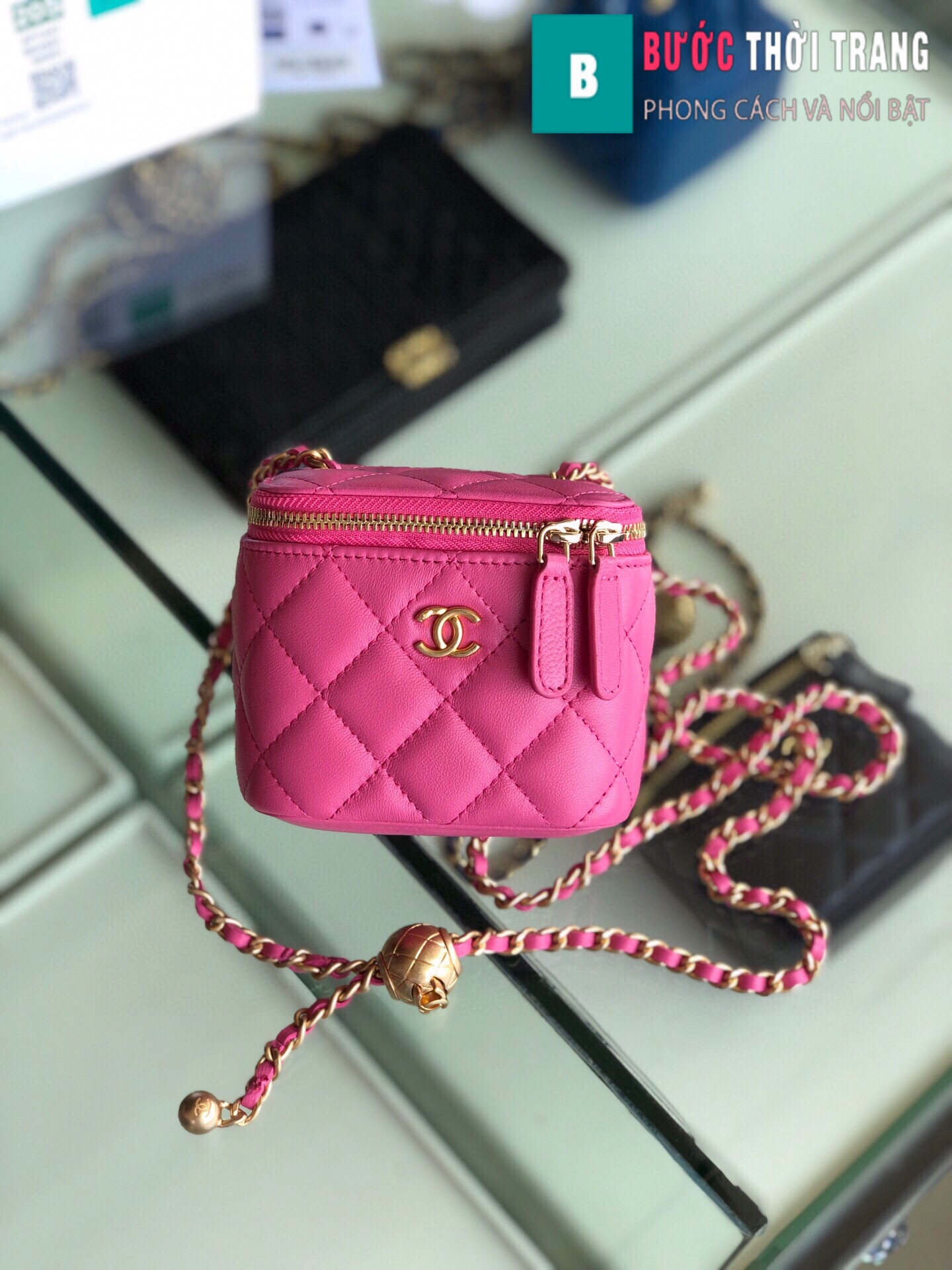 Túi xách Chanel Small vanity bag with strap (19)