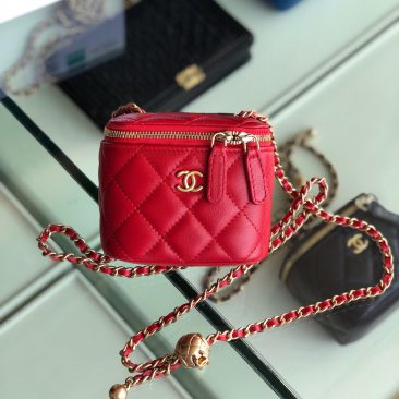 Túi xách Chanel Small vanity bag with strap (36)