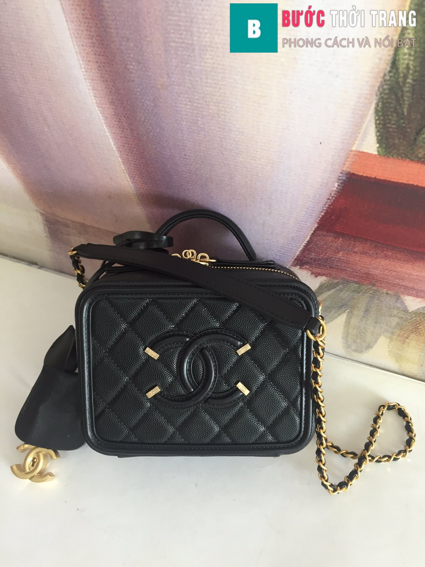 Túi xách Chanel Vanity case bag (73)