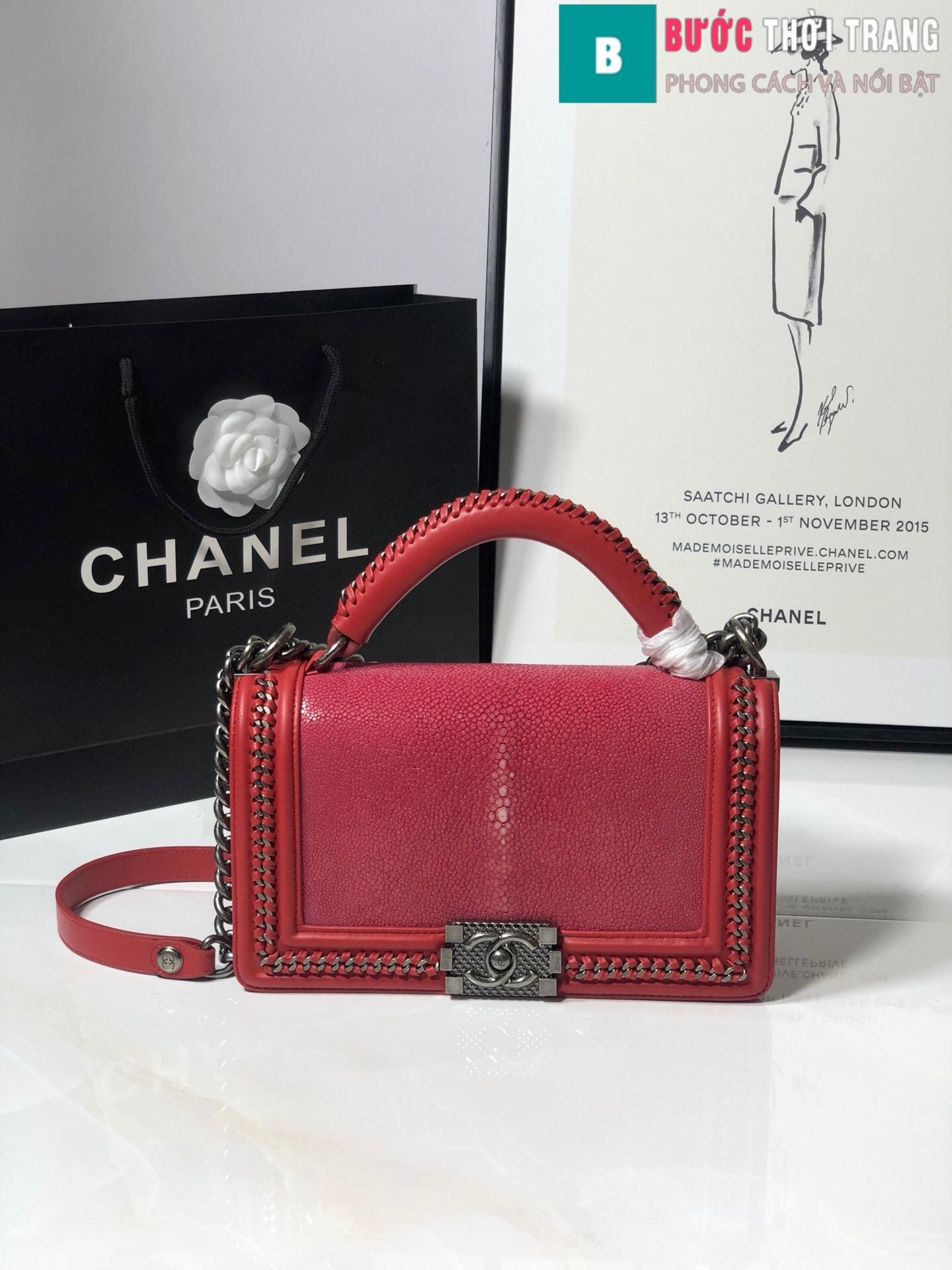 Túi xách Chanel boy siêu cấp da cá đuối (1)
