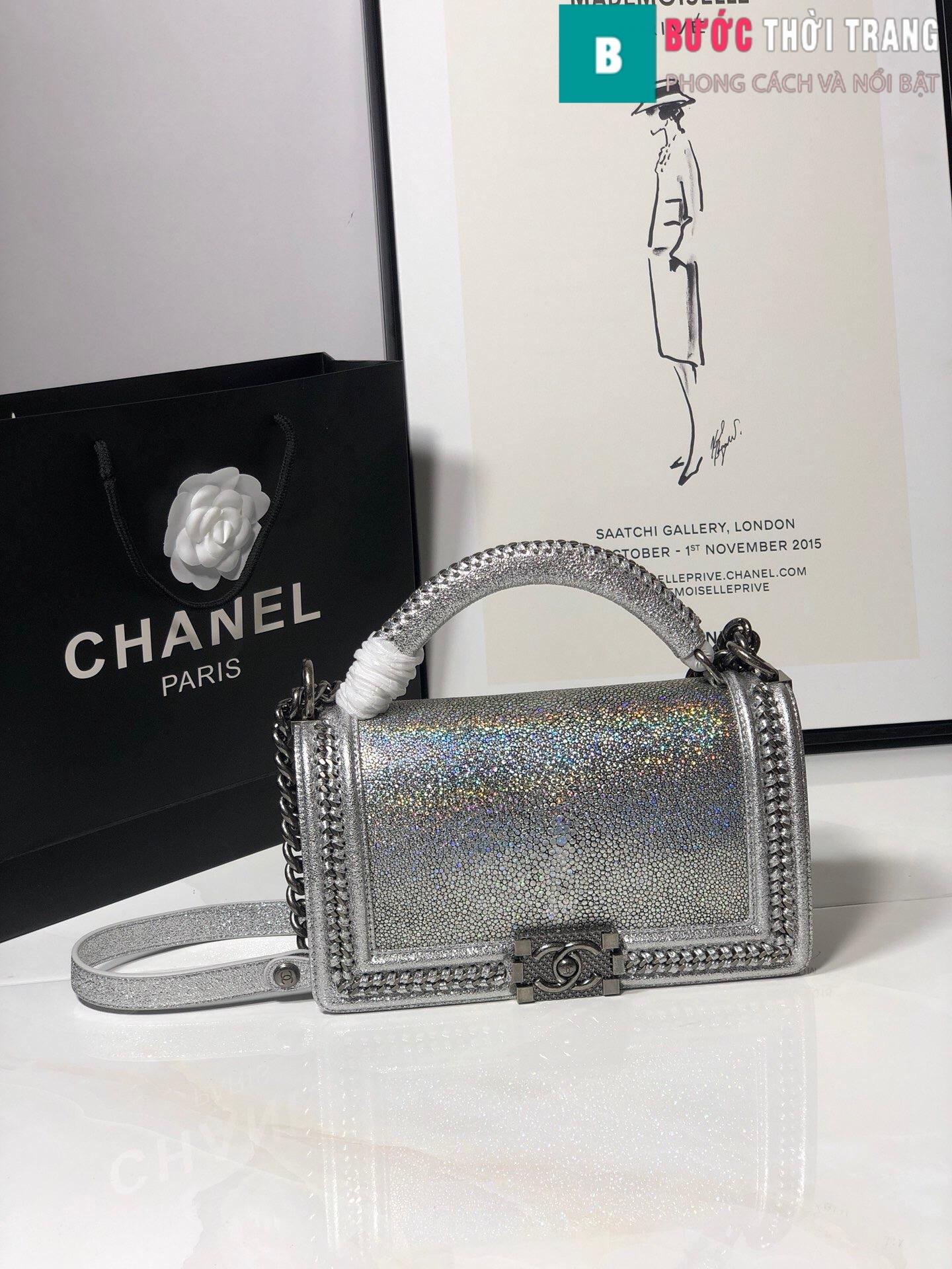 Túi xách Chanel boy siêu cấp da cá đuối (10)