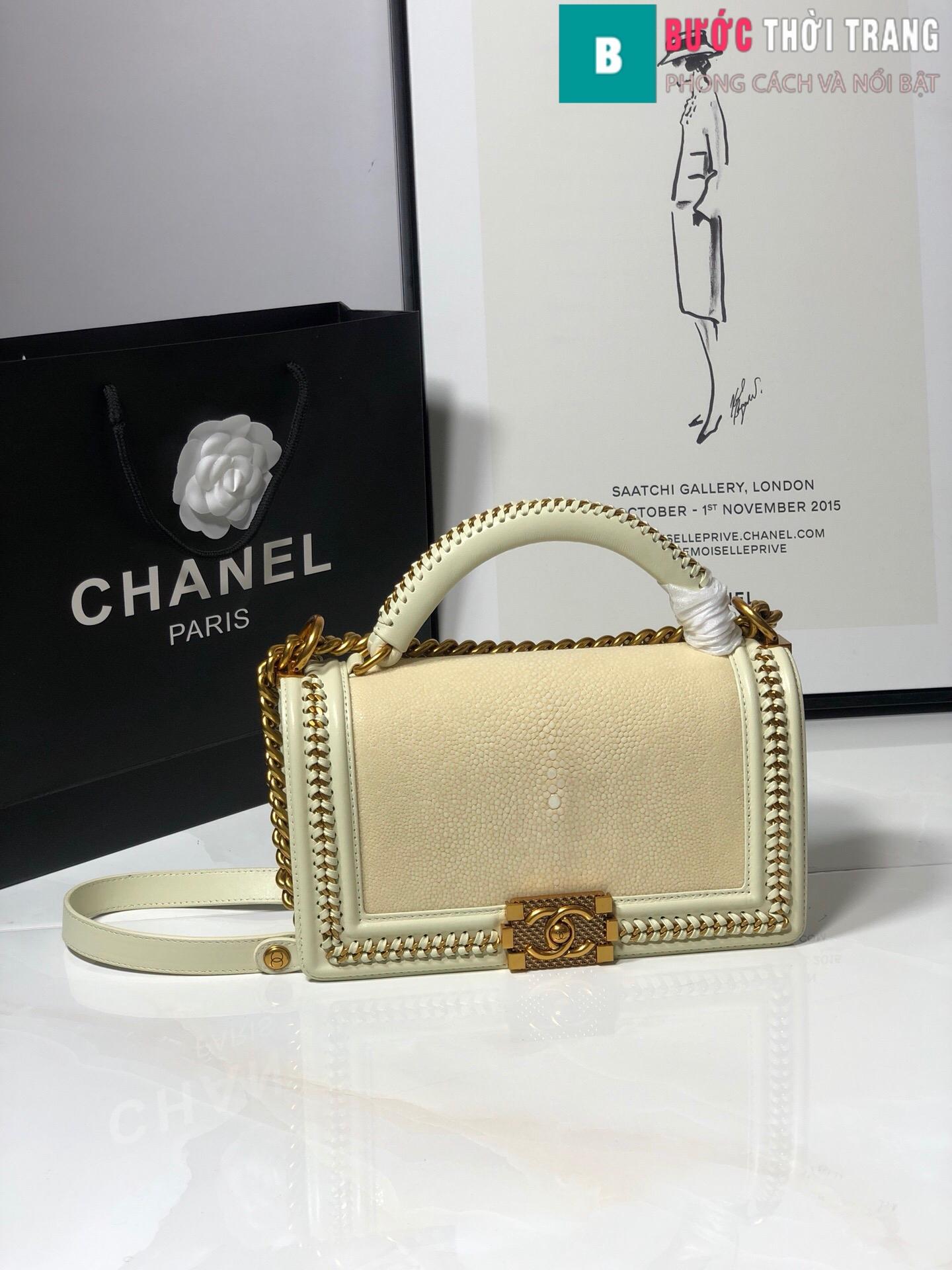 Túi xách Chanel boy siêu cấp da cá đuối (19)