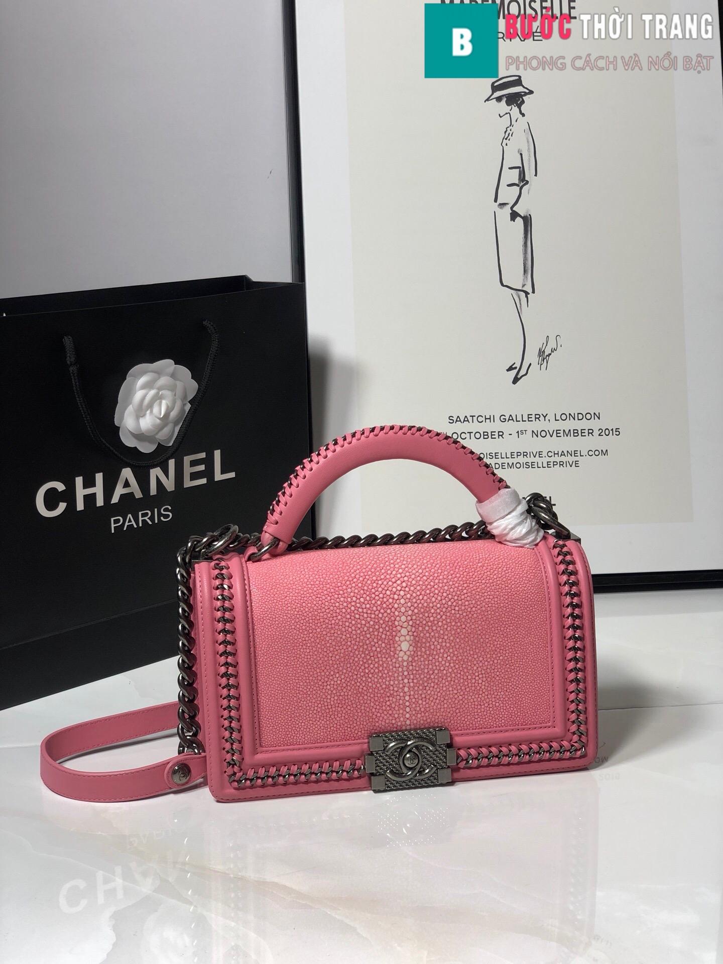 Túi xách Chanel boy siêu cấp da cá đuối (28)