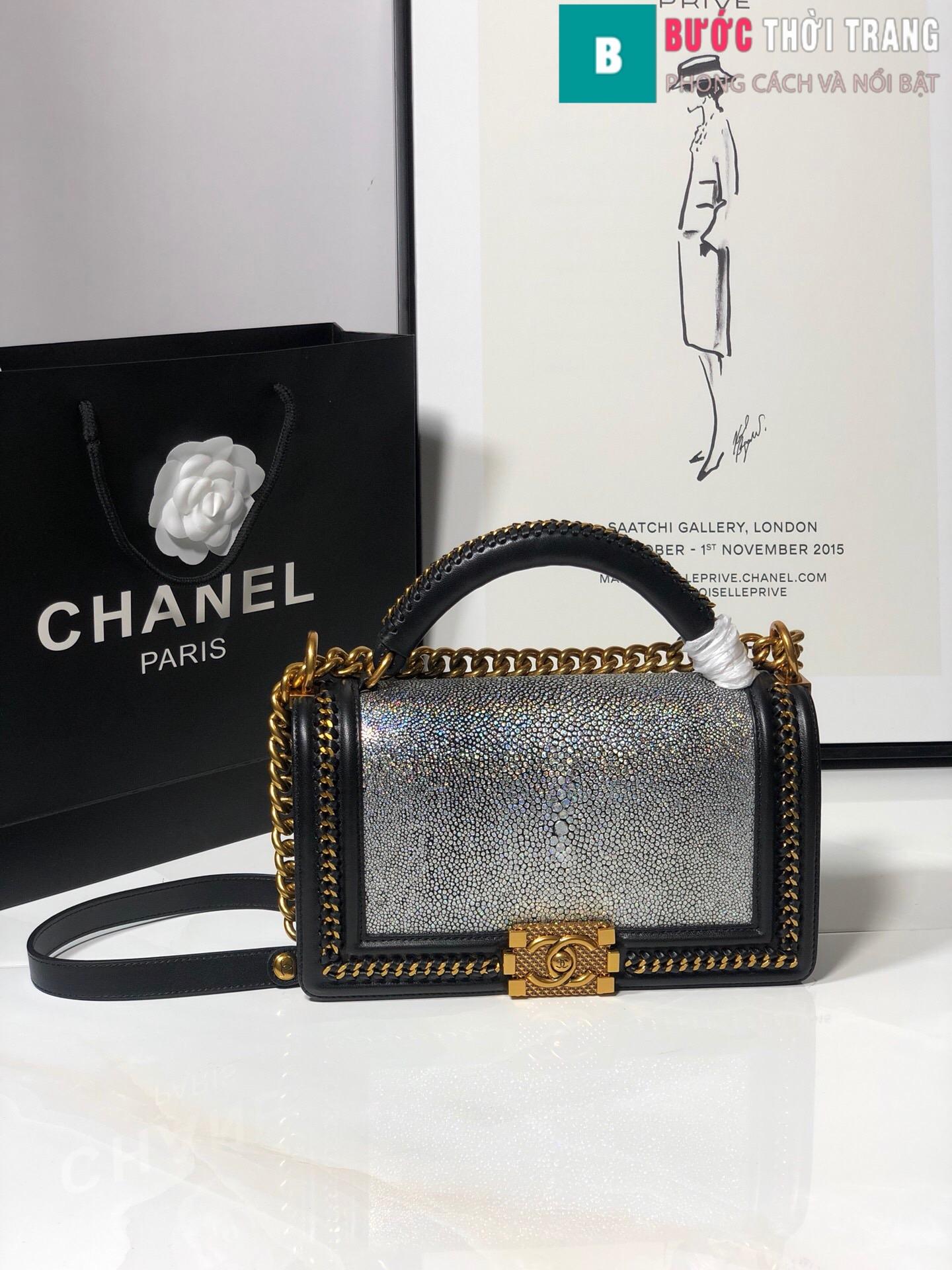 Túi xách Chanel boy siêu cấp da cá đuối (45)