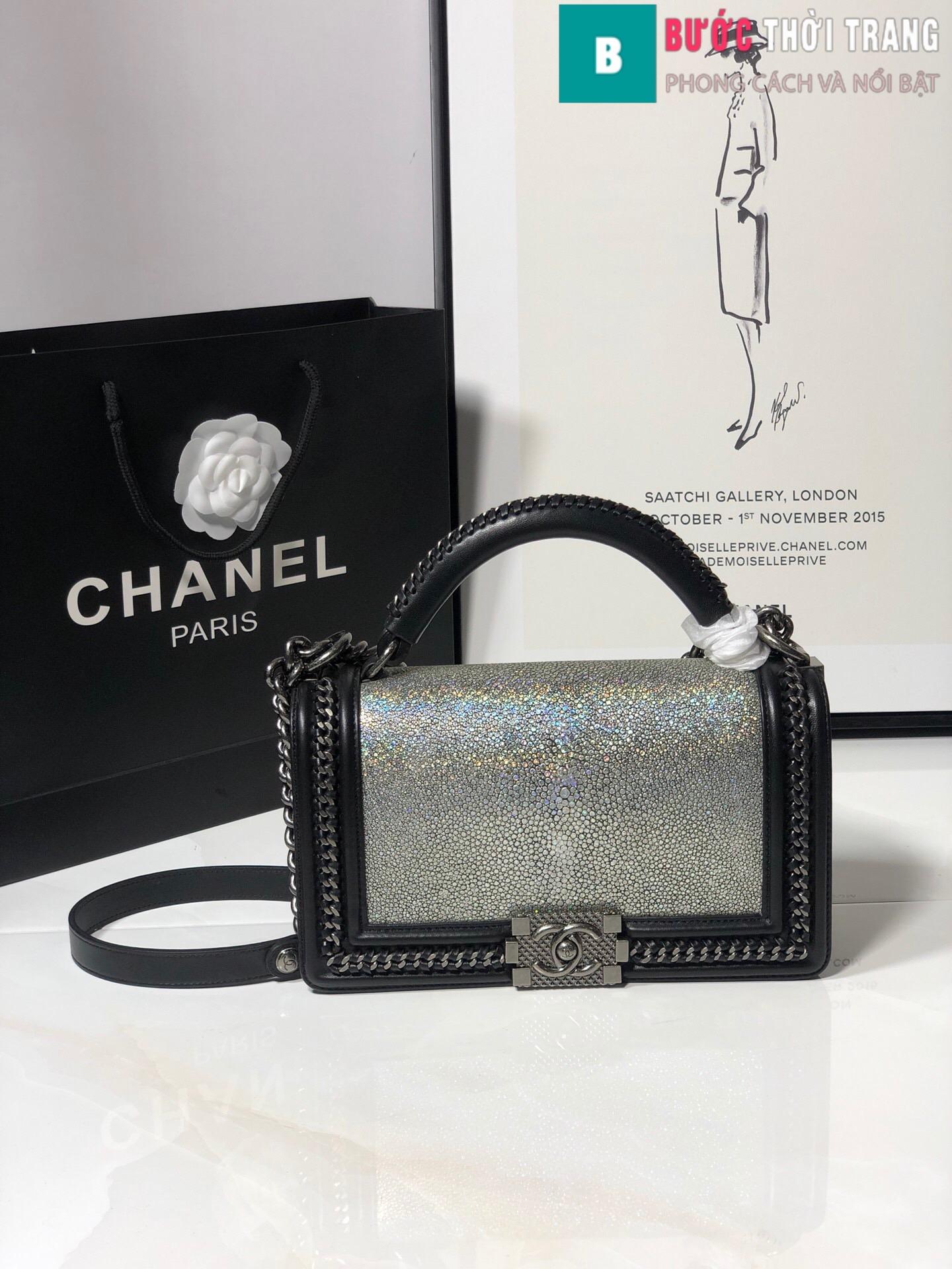 Túi xách Chanel boy siêu cấp da cá đuối (54)
