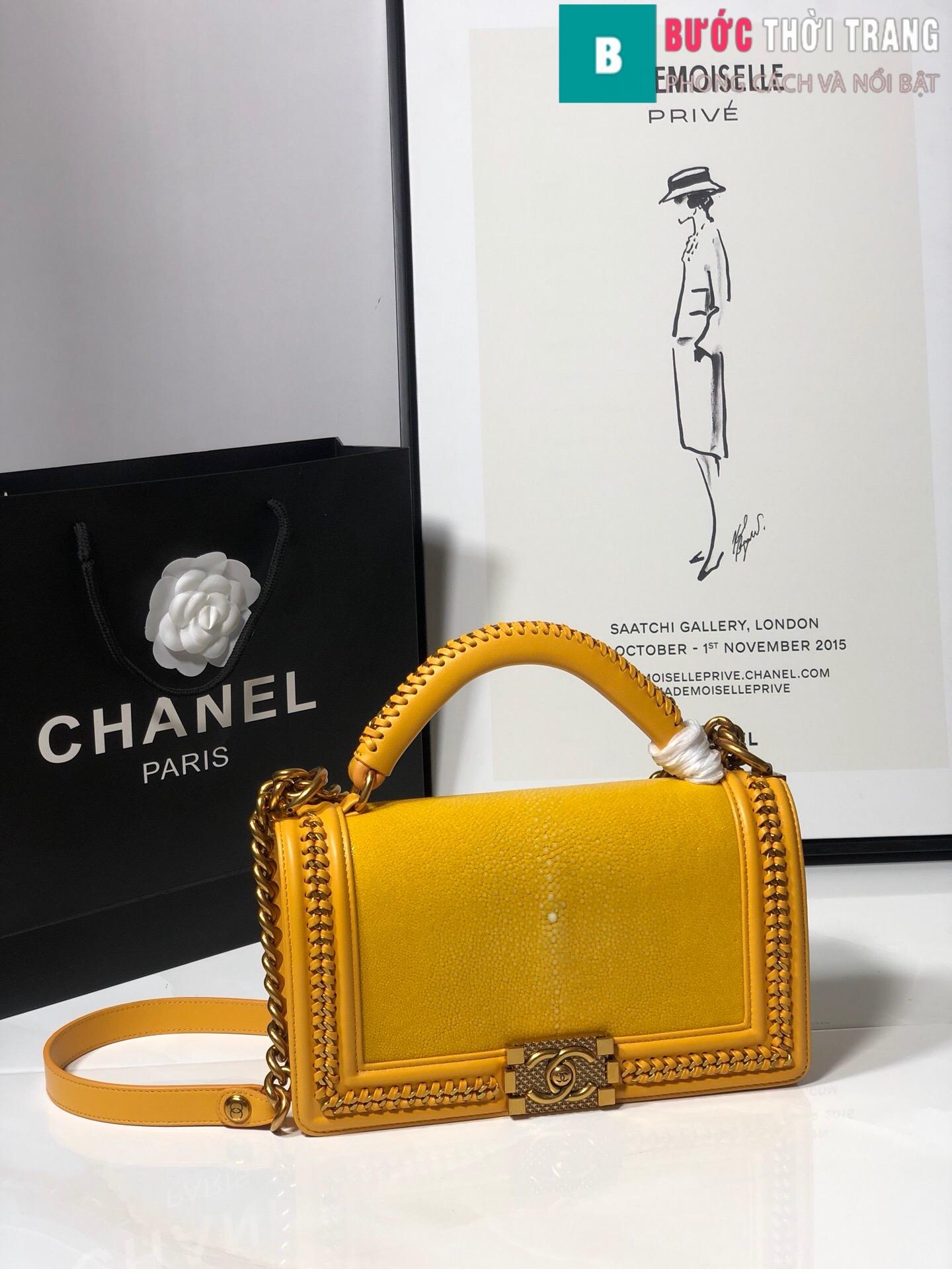 Túi xách Chanel boy siêu cấp da cá đuối (63)