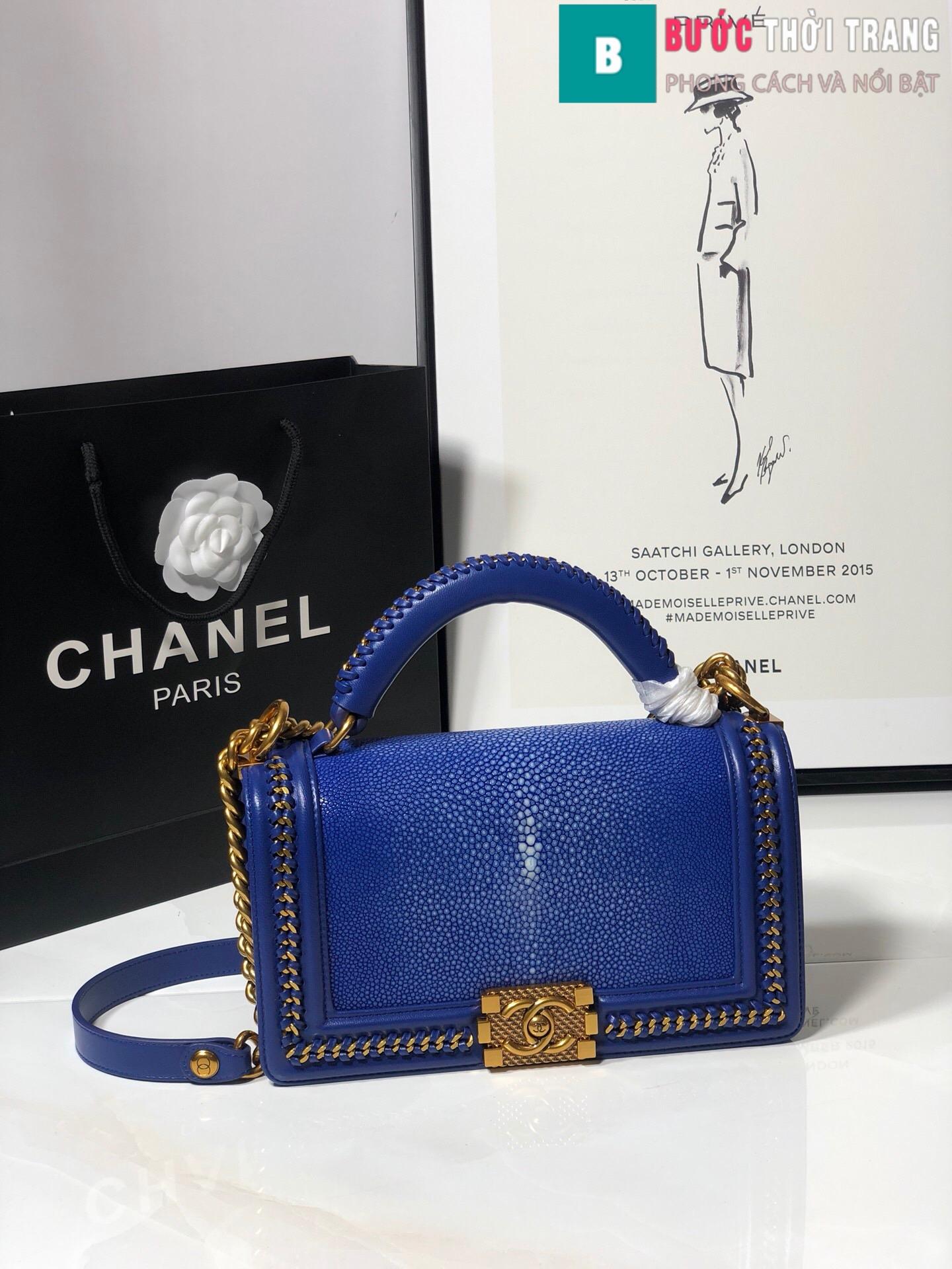 Túi xách Chanel boy siêu cấp da cá đuối (72)